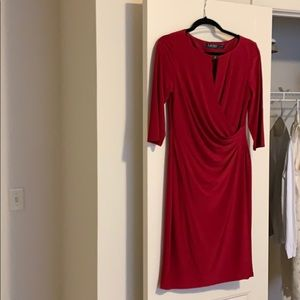 LAUREN Ralph Lauren dark pink wrap dress